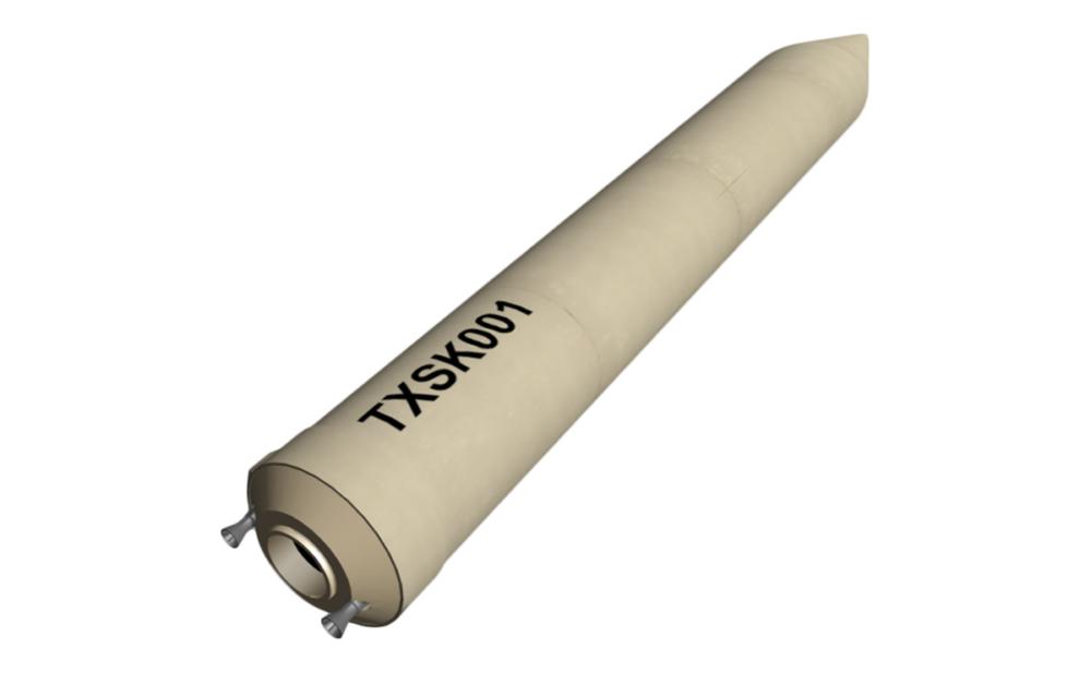 3D illustration missile
