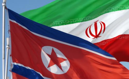iran and north korea flags photo