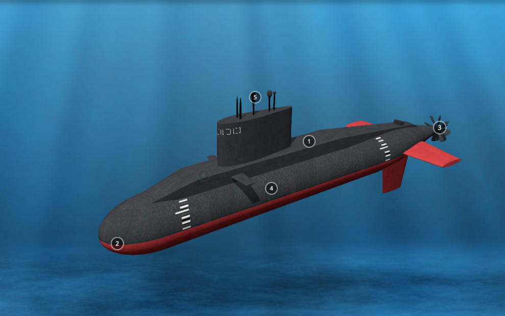 3D model of a Russian submarine