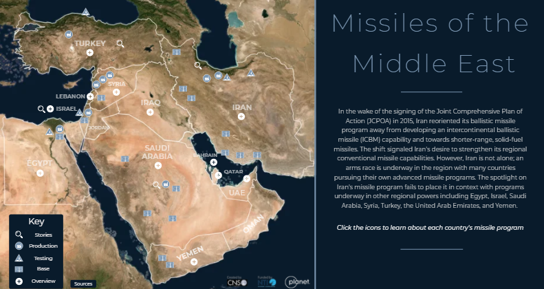 Screenshot of Missiles of the Middle East