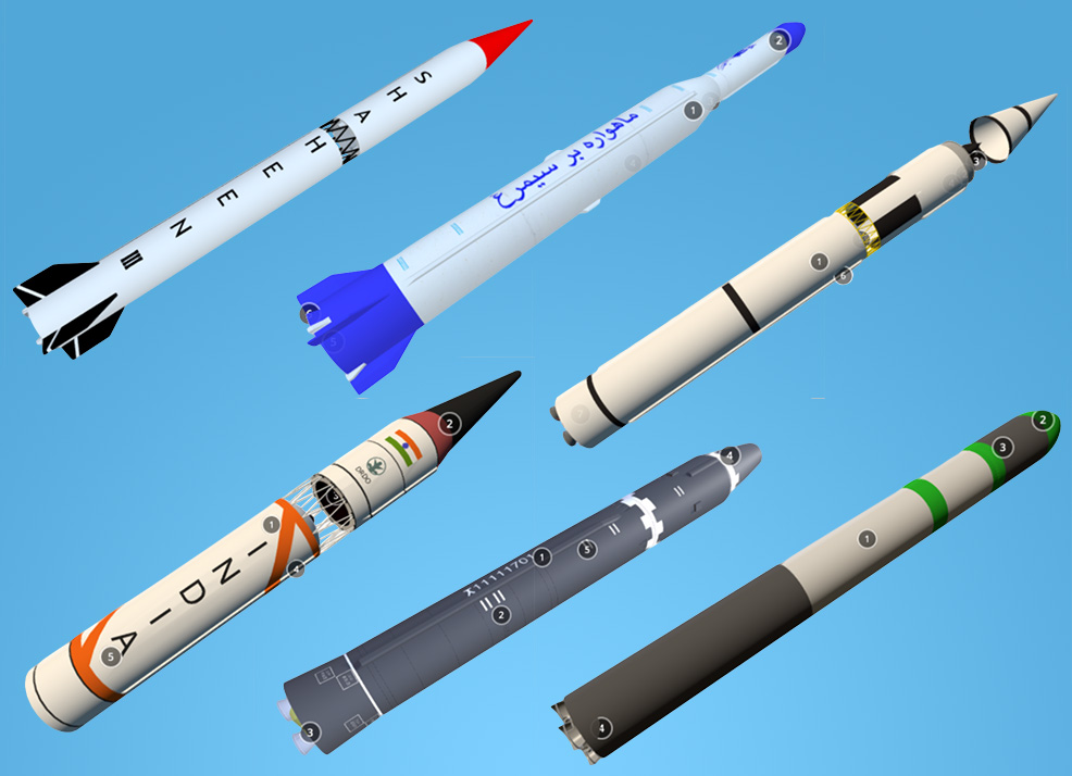 Screenshots of the 3D Missile Model Collection